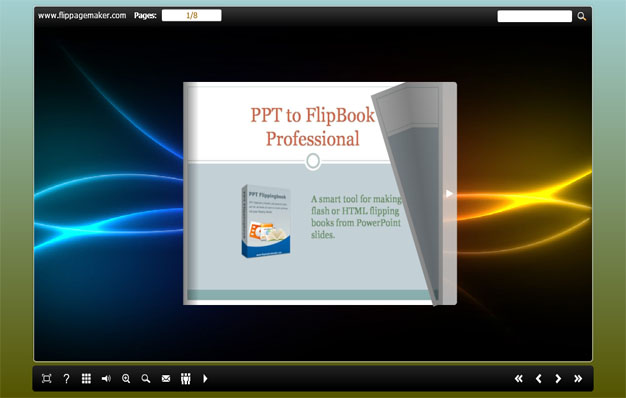 Convert common slide show into flipping book