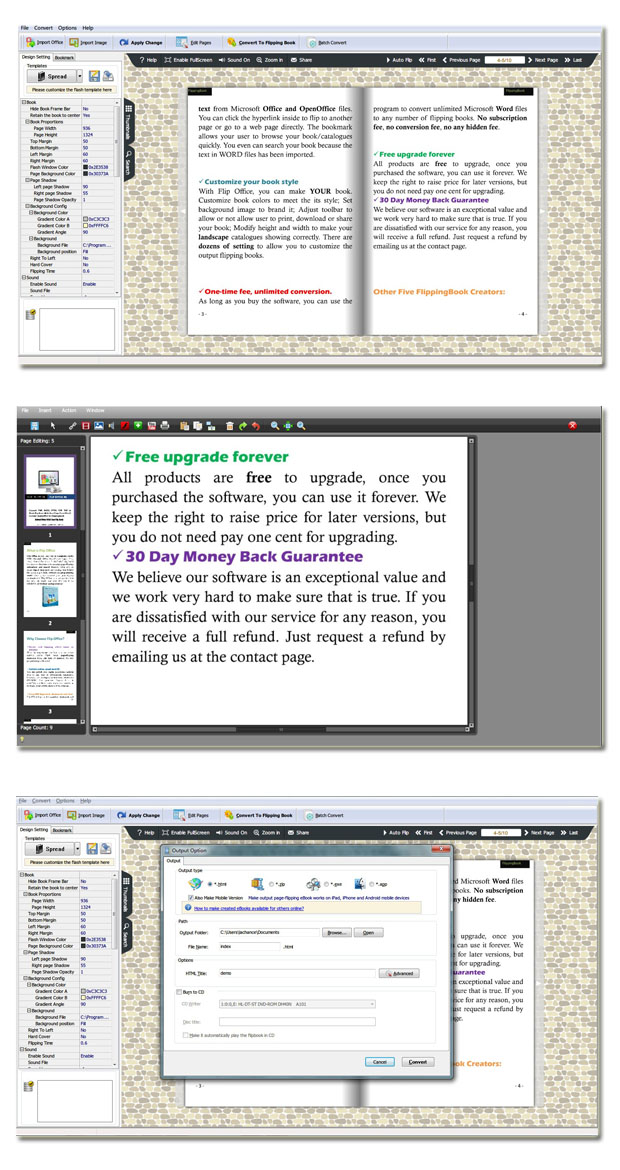Page Flipping Office Pro full screenshot