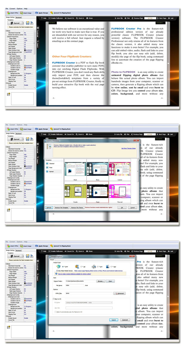 Page Flipping Office screenshot