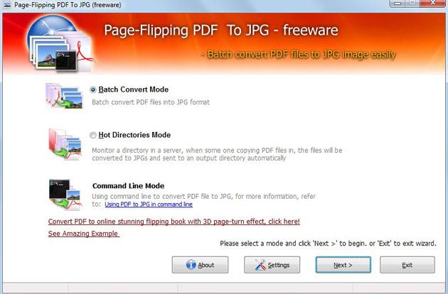 Windows 7 Free Page-Flipping PDF to JPG 1.0 full