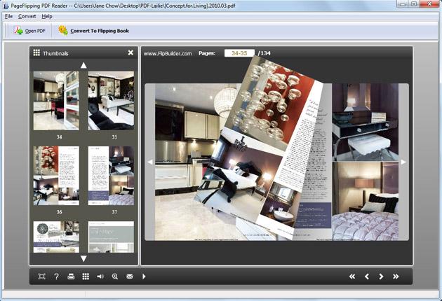 Free PageFlipping PDF Reader screenshot