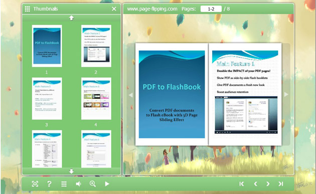 PageFlipping PDF to FlashBook screenshot
