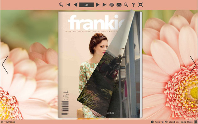 Page Flipping Themes about Pink